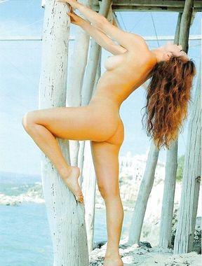 Sabrina Salerno exposes massive nude boobs