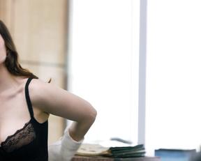 Hayley Atwell bra – Conviction s01e01 (2016)